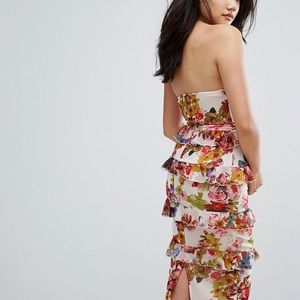Pretty Little Thing Floral Tiered Dress from Asos